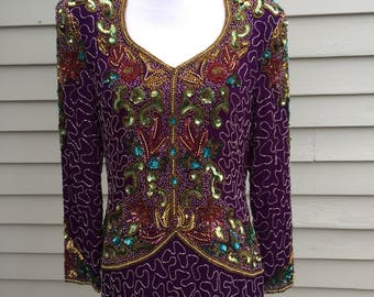 Vintage beaded dress by Night Vogue