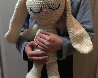 Crochet bunny plush