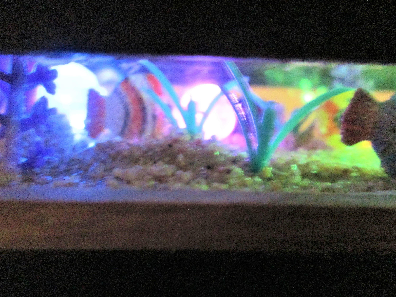 1 12 Miniature aquarium coffee table dollhouse coffee table