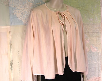 Vintage Diamond Tea Pale Pink Bed Jacket for Saks Fifth Avenue Made in Canada Retro Bedjacket Luxurious Designer Loungewear Lingerie