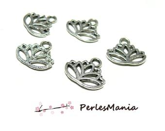 10 flowers of LOTUS S1123371 Antique silver color charm pendants