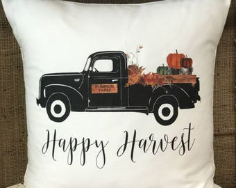 Happy Harvest Truck Pillow Cover
