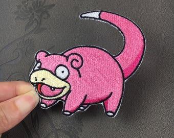 Pokemon Patch pikachu game Slowpoke embroidered patch iron on patch badge sew on patch iron on patches