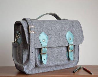 13-inch laptop  bag,  felt,  leather messenger bag,  crossbody bag,  laptop bag,  15% OFF SALE