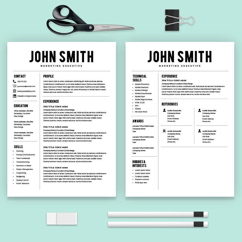 Free Resume Builder Template: Resume Template Resume Builder CV Template Free Cover