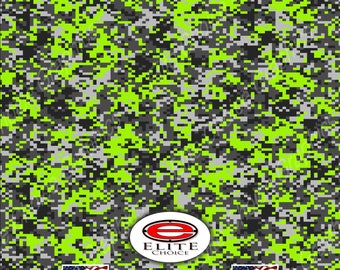 """Digital Lime Green  52""""x6ft Wrap Vinyl Truck Camo Car SUV Tree Real Camouflage Sticker Decal"""