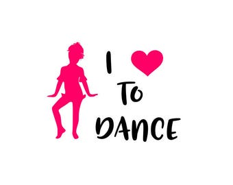 Download I love to dance   Etsy