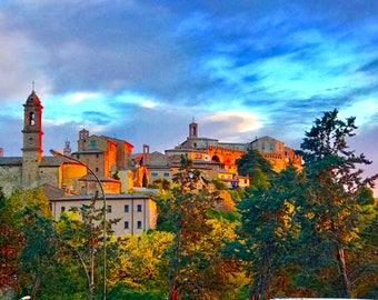 Italy photos, Montelpulciano photos, Tuscany photos, sunset photos, wall art, fine art,
