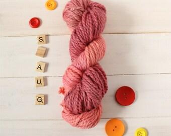 Hand dyed Hobbit themed chunky yarn - Smaug yarn - hand painted yarn - geek yarn - indie dyed yarn - multi tonal yarn - chunky yarn