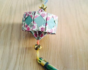 Origami Lantern hanging for the new year Chinese type Harlequin
