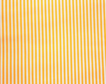 Small Striped Fabric, Stripes, Light Yellow, Yellow, Cotton Fabric, Craft Fabric, Quilting, Crafting, Craft Supplies, Extra Wide, Half Metre