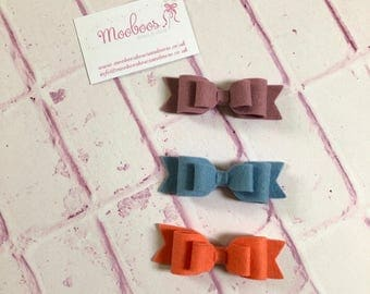 Set of 3 girls hair bows