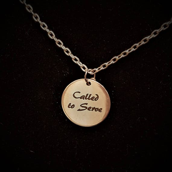 Gifts for LDS Missionaries Leaders, LDS Jewelry, Called to Serve Missionary Charm Necklace, Mormon Charms, Book of Mormon Scripture Quote