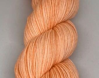 Peach - Hand Dyed Yarn 100g, Sock Weight