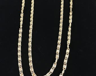 Vintage Chain Necklace, Goldtone