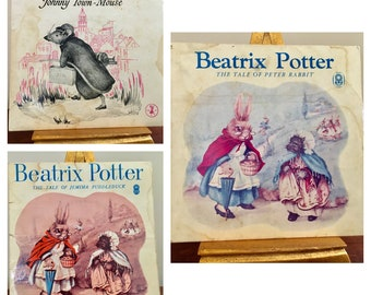 3 x 1960s Record vintage retro beatrix potter peter rabbit