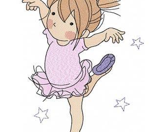 Ballerina_Machine Embroidery Design -  4*4, 4*5, 5*7, 6*8
