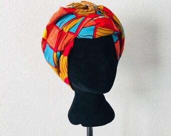 Head Wrap - African - Reversable - Kop Wrap - Verbind (connect)