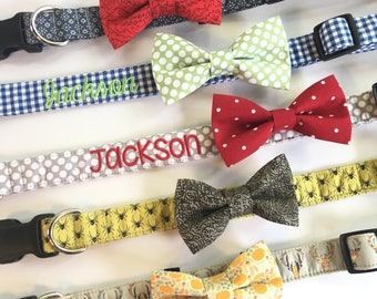 Dog Bowtie, Dog Collar Bow Tie, Dog Bow Tie, Collar bow tie, bow tie for collar, bow tie for collar, hidden strap, BOW TIE ONLY!