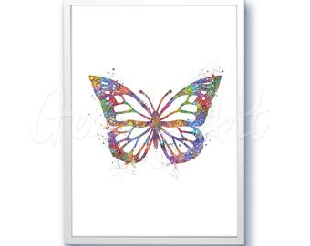Butterfly Watercolor Art Print - Butterfly Watercolor Art Painting - Butterfly Poster - Home Decor - House Warming Gift [3]