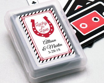 12pcs Lucky in Love Personalized Playing Cards - JM2267269-FC6704