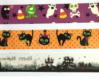 Misprint Washi Tape - Halloween Ghost, Haunted House, Cat, Skeleton
