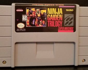 Ninja Gaiden Trilogy SNES Super Nintendo English Reproduction