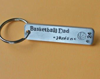 Basketball Keychain, Basketball Mom Keychain, Basketball Dad Keychain,Basketball Family, Team Mom, Team Dad , Custom Basketball Keychain
