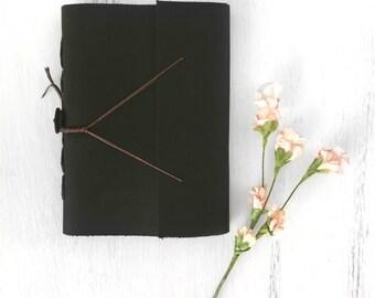 Black Leather Sketchbook / journal / planner