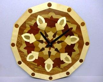 """PENDULUM"" diameter 36 MARQUETRY wood veneer rosette"
