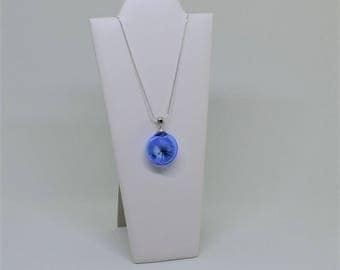 Blue Floral Necklace