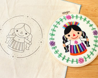 "Embroidery pattern ""Mexican Rag Doll"""