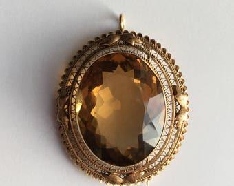 14k gold brooch/pendant