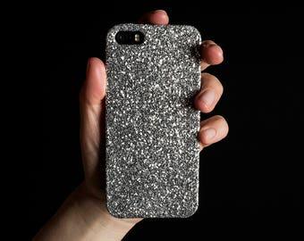 Glitter Case for iPhone 4, 5/5S/SE, 6/6S Plus, 7 Plus, Samsung A3, S6, S7 Edge, S8 Plus and Google Pixel XL - Silver