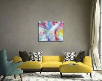 Large Colourful Abstract Painting