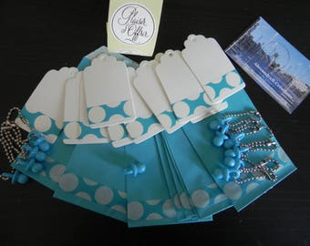 Blue baptism Kit for 10 bags, tags and pacifiers