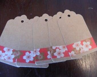 THEME Japan 5 tags in kraft measuring 7 x 4 cm