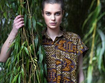 African Clothing - African Dress - Wax Print Shirt Dress - Longline Shirt - Ankara Dress - Festival Dress - Summer Dress - festival fashion