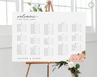Wedding Seating Chart, Seating Chart Wedding, Wedding Table Plan, Seating Charts, Wedding Sign, Boho Wedding, Floral Seating Chart, #GPW