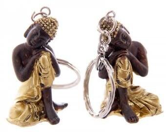 Gold Thai Buddha KeyChain (2 inch)