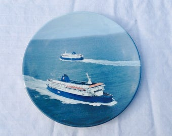 Poole pottery plate P and O ferry design