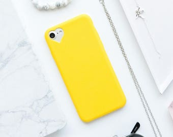Yellow Heart iPhone Case - iPhone 7 Case, iPhone 7 Plus Case, iPhone 6s Case, iPhone 6s Plus Case, iPhone 6 Case, iPhone 6 Plus Case, Matte