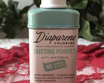 A 1950's Diaperene Dusting Powder Tin