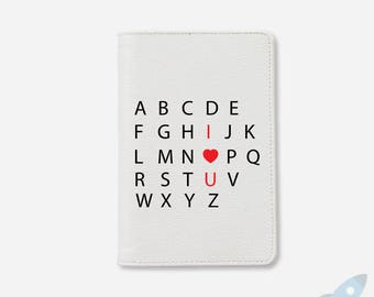 Women's Day Alphabet I love you leather passport cover personalized passport cover cute passport valentine gifts for her