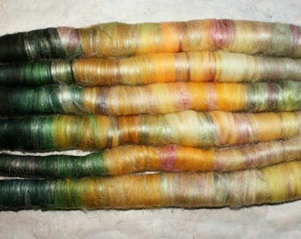 Rolags winterling-for spinning from merino/silk