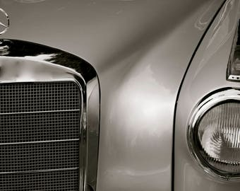 mercedes classic black and white
