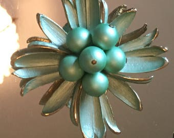 Antique Green Enamel and Pearl Pun