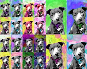 Custom dog Pop art portrait custom Pop art dog painting from photo Pop art pet portrait Dog Portrait Custom painting on canvas custom print