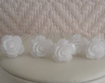 Bridal flower hair stick.
