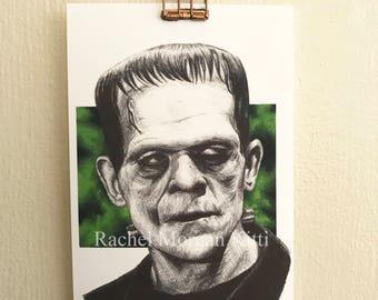 Frankenstein, Boris Karloff, Vintage, Old Hollywood, Classic Horror,  Monster, It's Alive!
